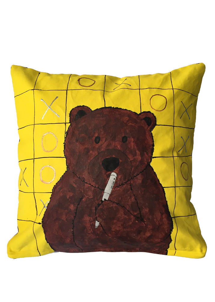 'Tic-tac-toe bear' Cushion