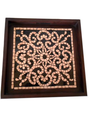 Ebony Lace Mosaic Tray