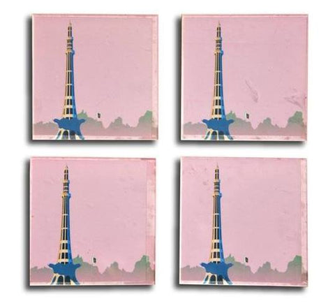 Minar e Pakistan Acrylic Coaster - Set of 4