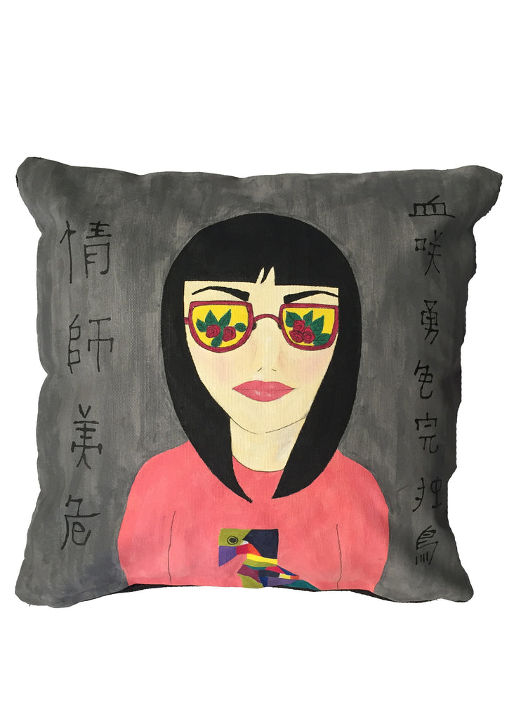'Girl in pink' Cushion