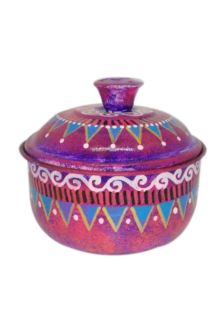 Pot with Lid - Hand-painted