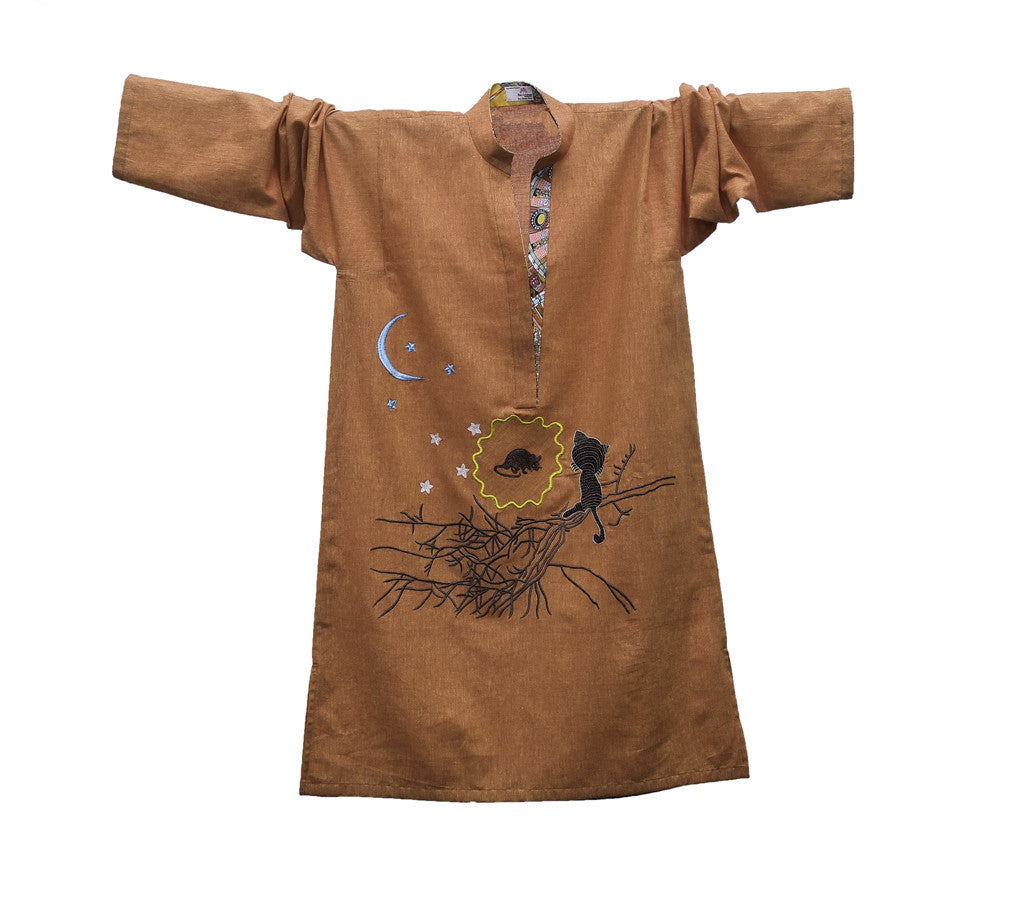 Moon Gazing - Fine Cotton Khaaddar