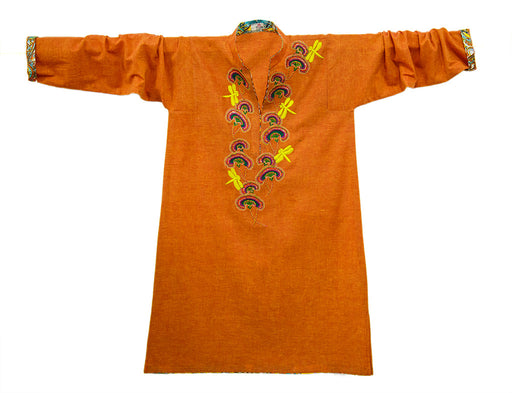 Cotton Khaddar Tunic with Floral and Dragonfly