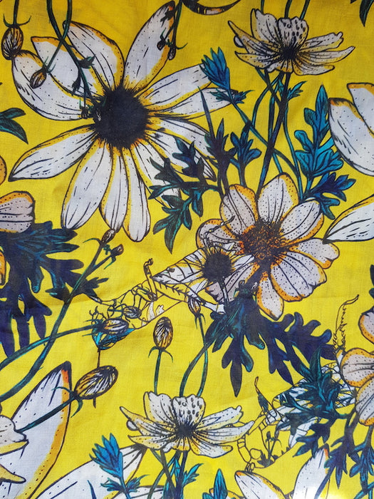 Lawn Print- Daisy Hoppers (Summer Yellow)
