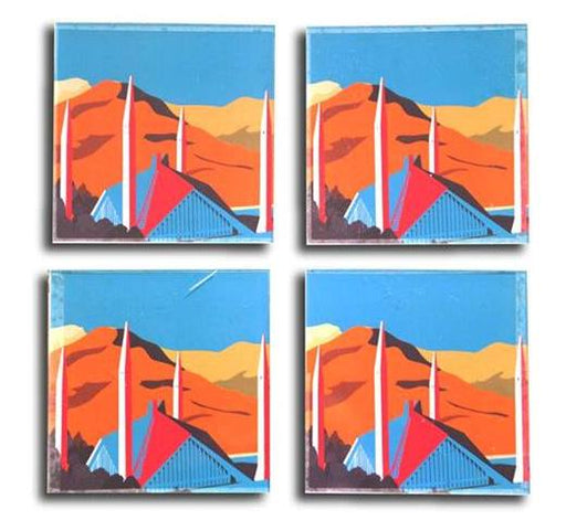Islamabad Acrylic Coaster - Set of 4