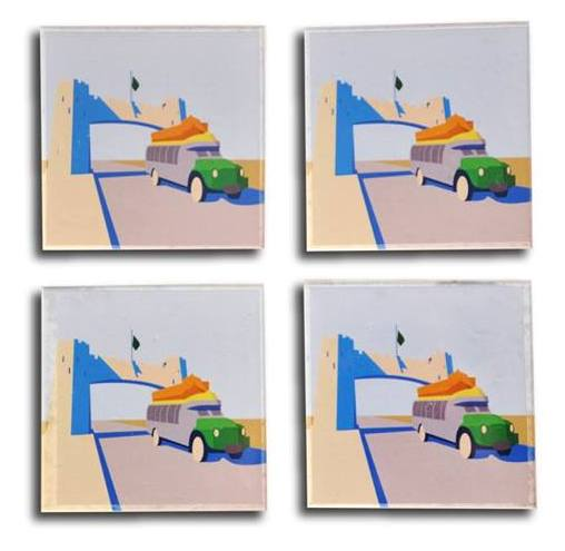 Bab e Khayber Acrylic Coaster - Set of 4