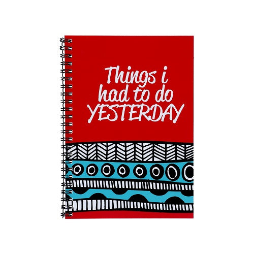 Notebook - Things I Had To Do Yesterday