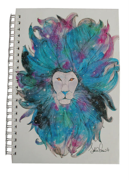 Galaxy Lion Hardcover Journal