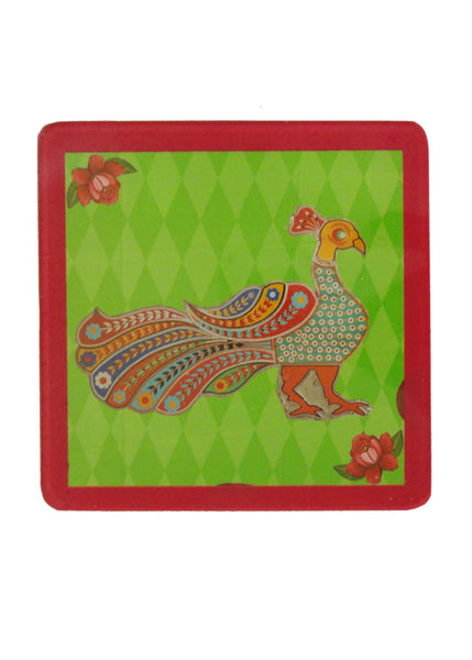 Truck Art Coaster - Peacock - Set of Two