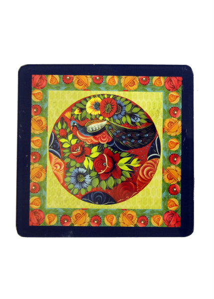 Truck Art Coaster - Flowers - Set of Two