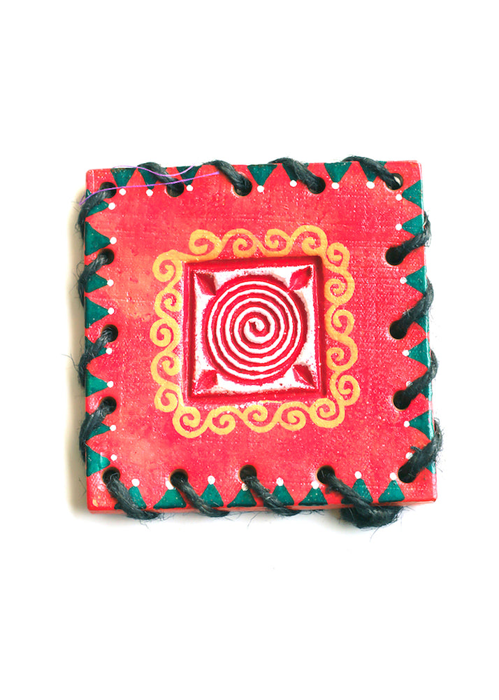 Square Hand-painted Coaster