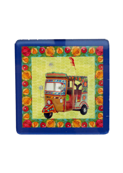 Truck Art Coaster - Rickshaw - Set of Two