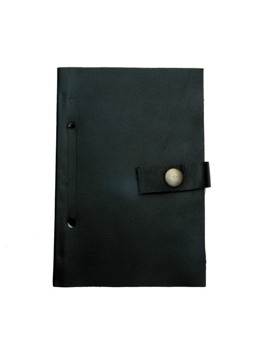 Leather Diary in Black