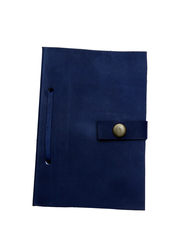 Leather Diary in Blue