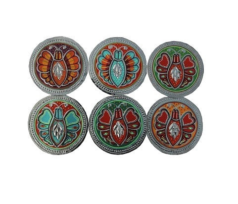 Set of six coasters - Butterflies