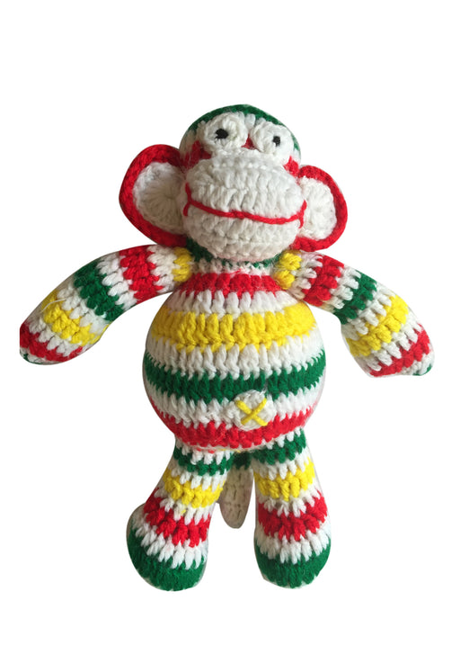 Stripey Monkey Handmade Crochet Toy
