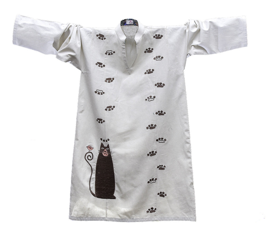 Smug Cat Fine Cotton Khaddar Kurta