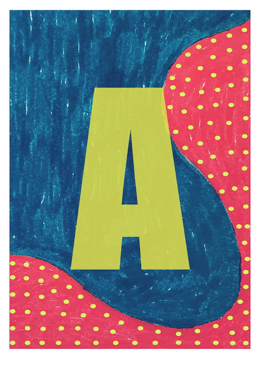 Letter A on Mass Print