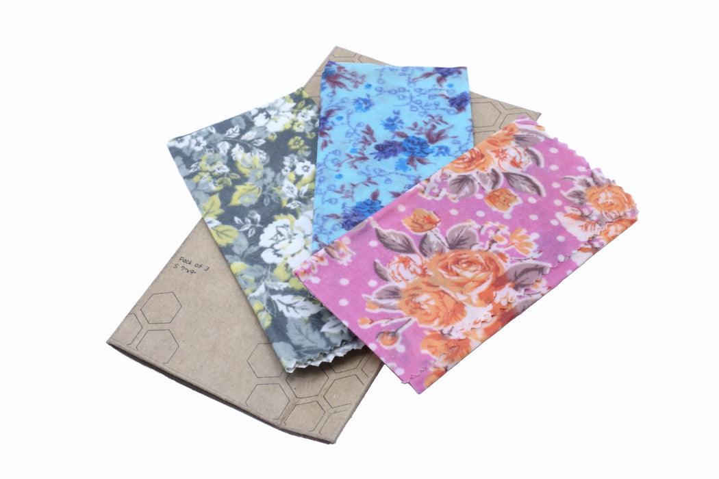 Beeswax Food Wrap- Pack of 3 - 3 sizes