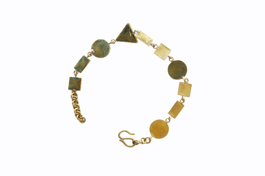 Brass Bracelet - Shapes