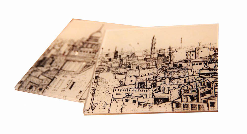 Old Lahore Coasters - set of 4