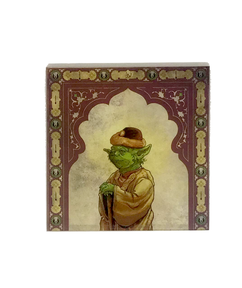 Star Wars Mughal Square Coaster- Yoda