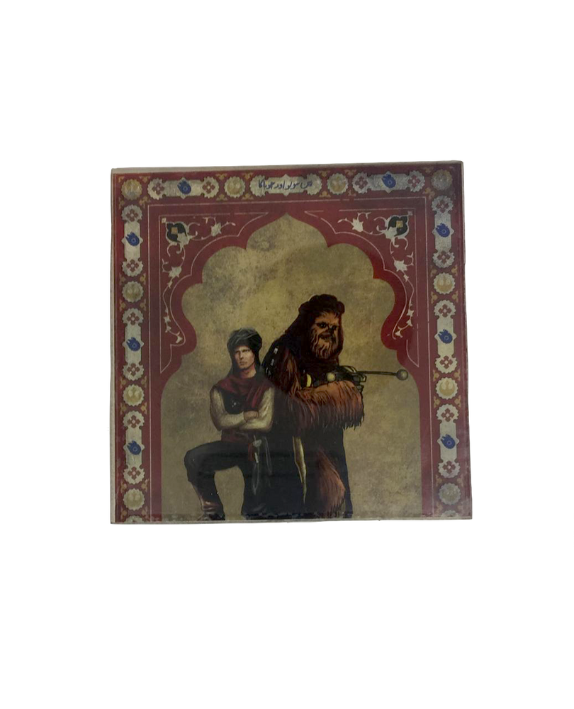 Star Wars Mughal Square Coaster- Hans Solo and Chewbacca