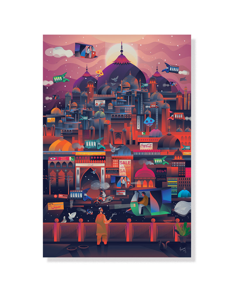 Cyber Lahore Print