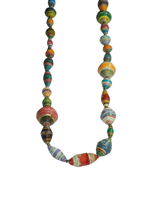 Confetti Paper Beaded Necklace