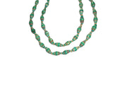 Emerald Paper Beaded Necklace