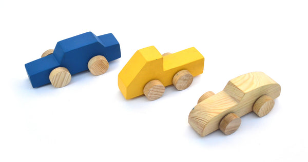 Handmade Wooden Car Set