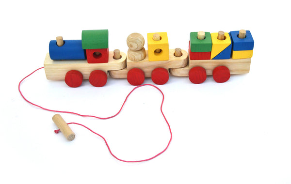 Handmade Wooden Blocks Train