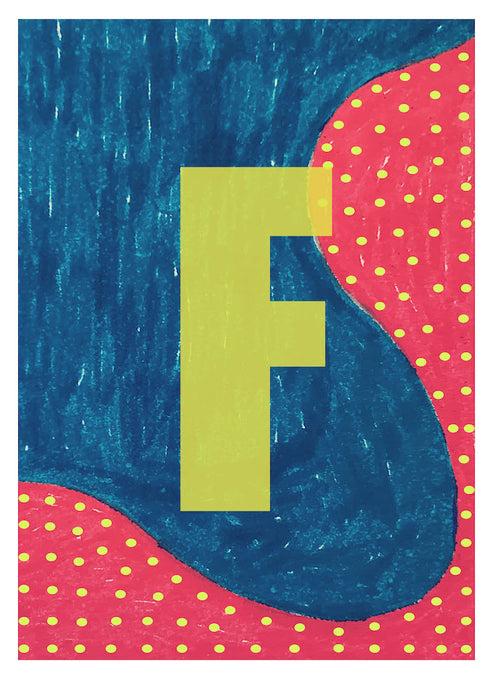 Letter F on Mass Print