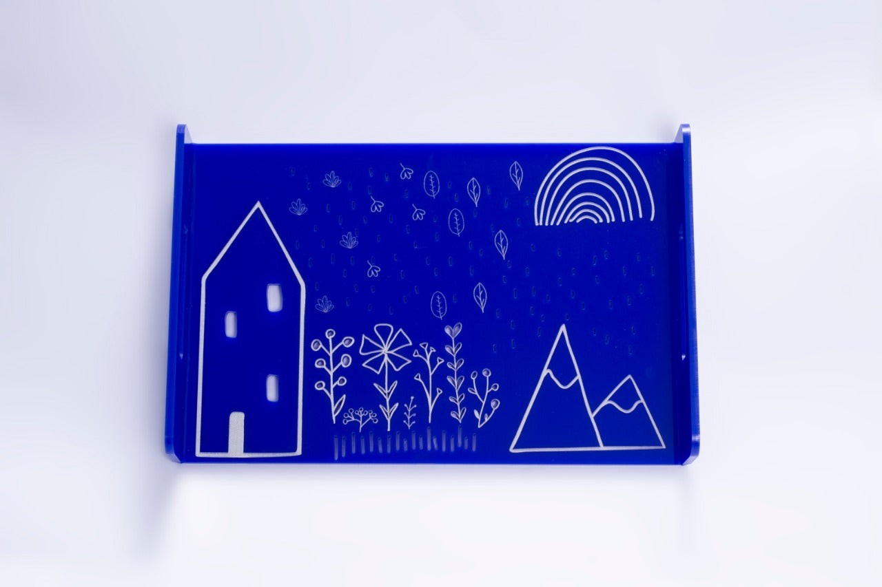 House on a Hill Tray