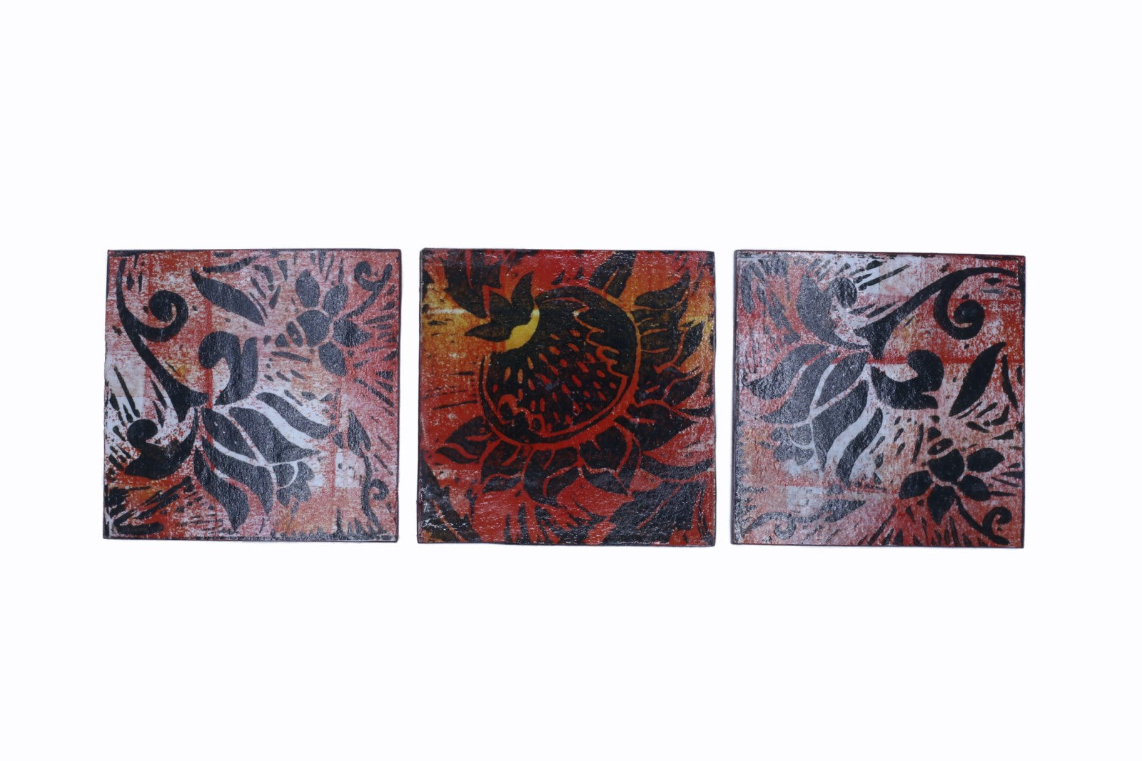 Decoupage Coasters - Set of 3 - Sunset Floral