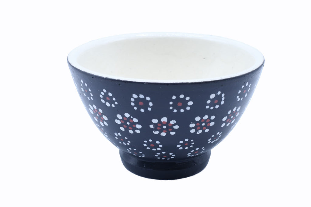 Polly Handpainted Bowl - Dot Pattern