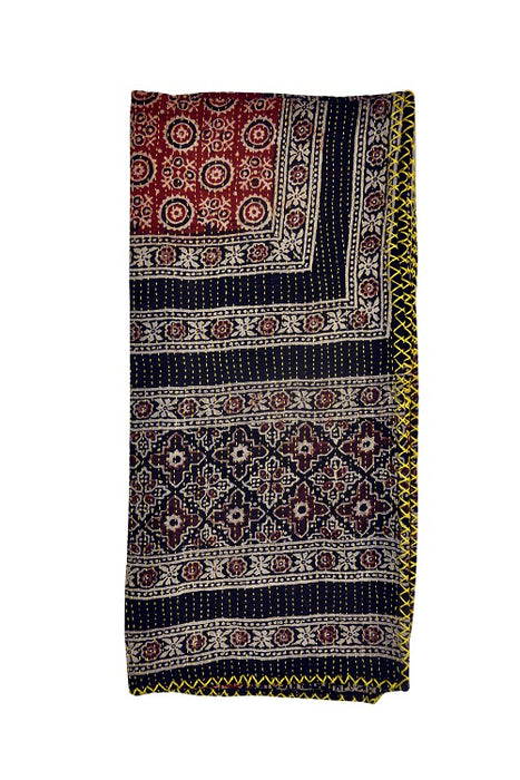 Hand-done Kantha Stitch Scarf - Reversible