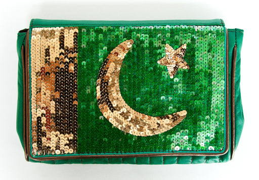 Sequined Flag Clutch