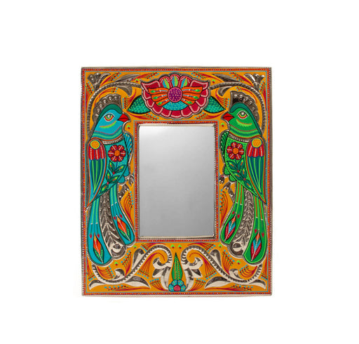 Medium Mirror Frame - Parrots