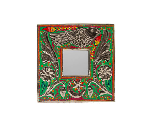 Small Mirror Frame - Green Bird