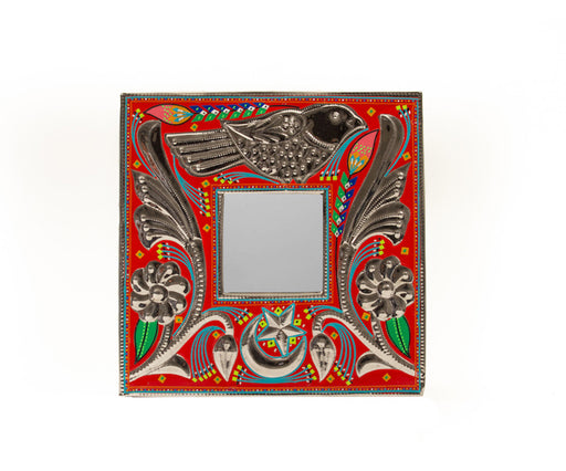 Small Mirror Frame - Red Bird