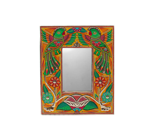 Medium Mirror Frame - Two Happy Parrots