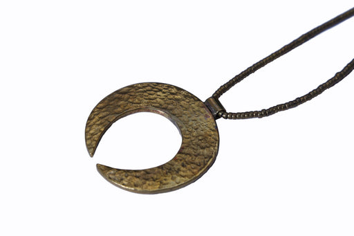 Brass Necklace - Moon