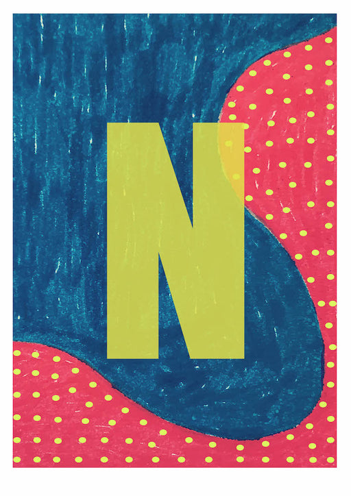 Letter N on Mass Print