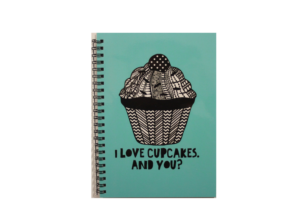 Notebook - I Love Cupcakes.  And You?