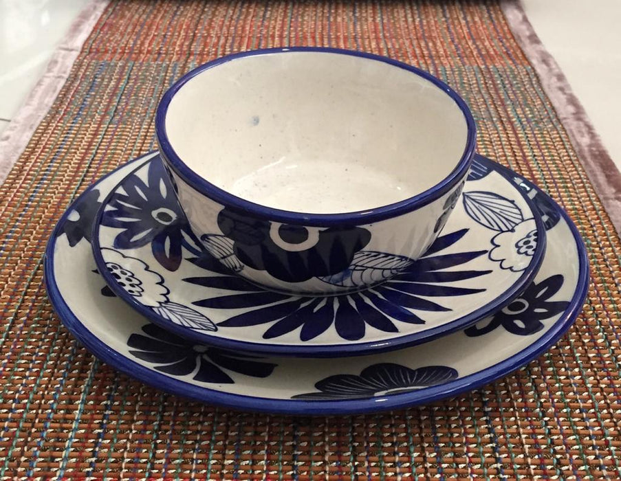 Dinner Plate - Blue and White Floral
