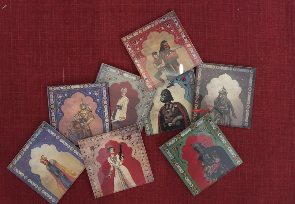 Star Wars Mughal Square Coaster- Princess Leia young