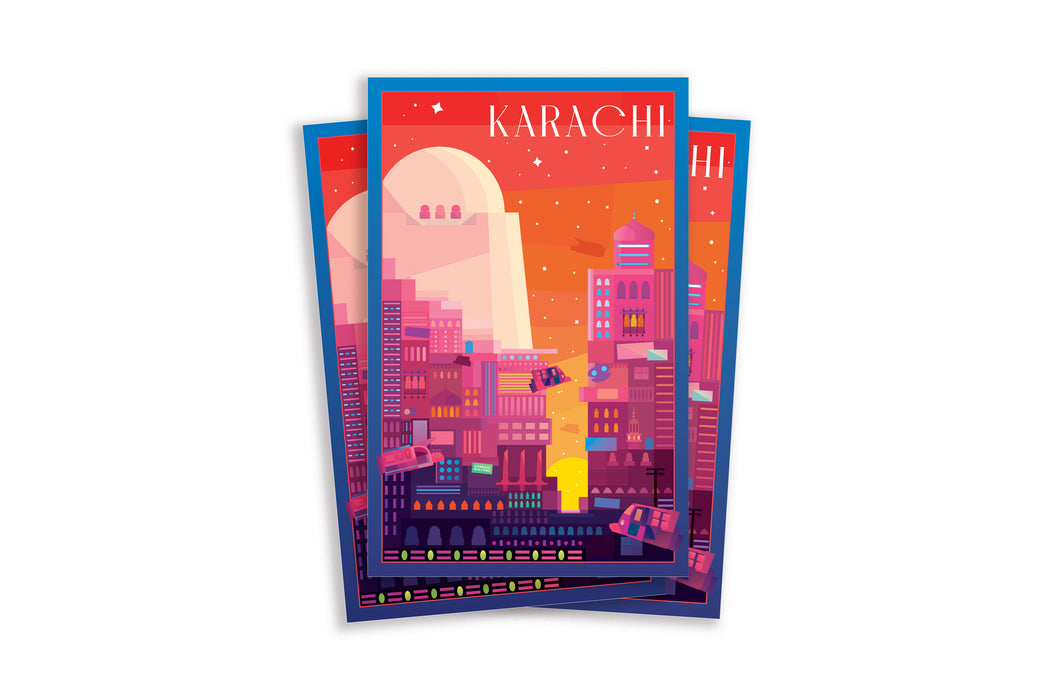 Karachi Travel Postcard 1