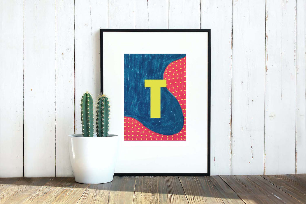 Letter H on Mass Print