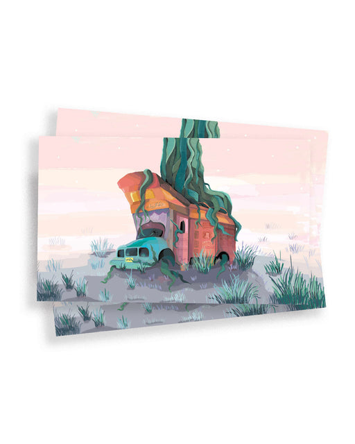 Truck & The Beanstalk Postcard